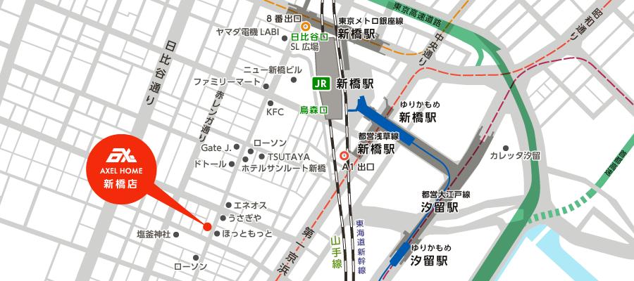アクセスマップ 新橋店